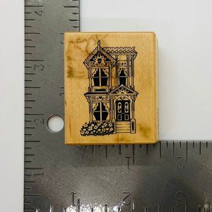 Wood Rubber Stamp Victorian Colonial Home